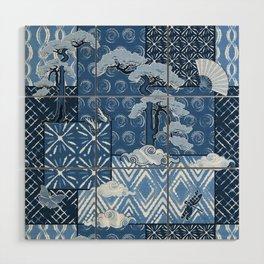 Shibori Quilt Wood Wall Art