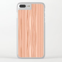 Cherry Wood Texture Clear iPhone Case