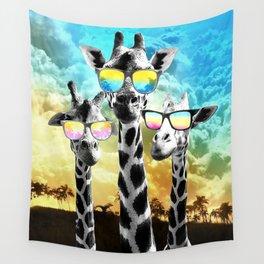 Crazy Cool Giraffe Wall Tapestry