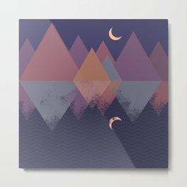 Moonlit Mountains Metal Print