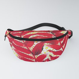 Abstract Painting Leaf Leaves Plant Nature Fanny Pack