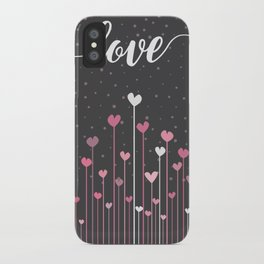 Love & Hearts iPhone Case
