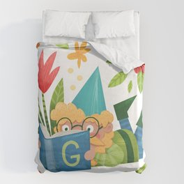 Book Gnome Duvet Cover