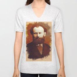 Edouard Manet, Artist Unisex V-Neck