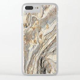Concrete Texture Clear iPhone Case