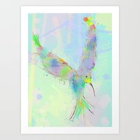 swallow Art Prints featuring SWALLOW by ARC ART