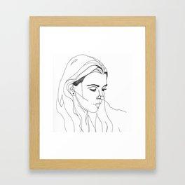 KING LYNN GUNN / PVRIS Framed Art Print