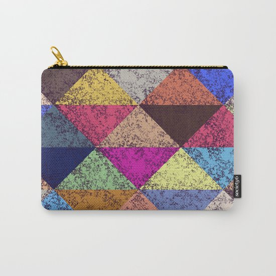 Color texture, Geometric background Carry-All Pouch