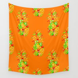 Punch Of Pineapple Wall Tapestry