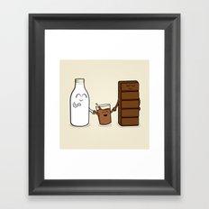 Milk + Chocolate Framed Art Print