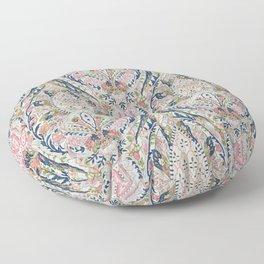 Pink Blue Green Leaf Flower Paisley Floor Pillow