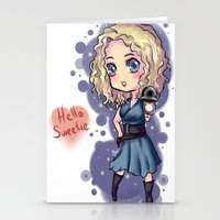 river song Stationery Cards featuring Chibi River Song   by Midnight Tardis