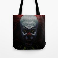 pennywise Tote Bags featuring Pennywise by John Medbury (LAZY J Studios)