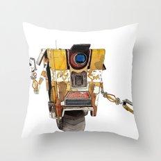 Borderlands Claptrap Watercolour Throw Pillow