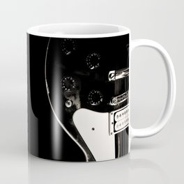 Black Guitar Coffee Mug
