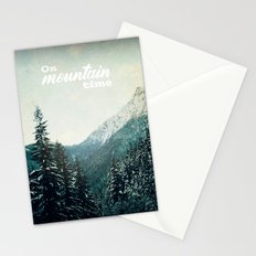 On Mountain Time Stationery Cards