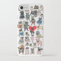 pugs iPhone & iPod Cases featuring Pugs by Yuliya