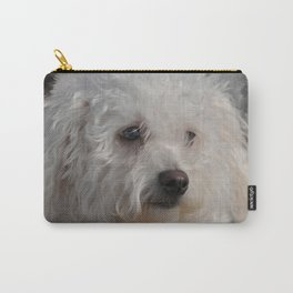 White Puppy Carry-All Pouch