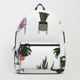 House Plant Pattern Backpack