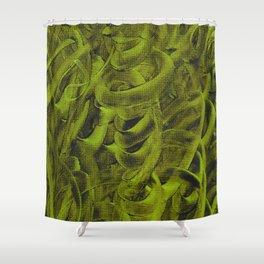 Pellucidar Sap Green Abstract Shower Curtain