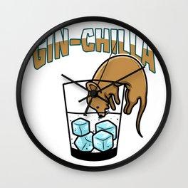 Gin Chilla Chinchilla thirst alcohol Wall Clock