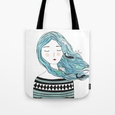 Whales in my hair Tote Bag