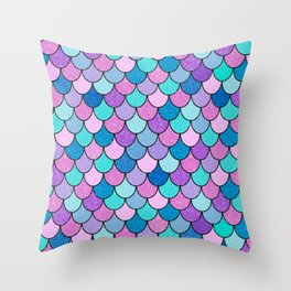 Sparkle Scales Throw Pillow
