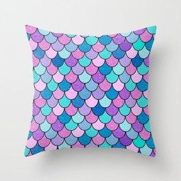 Sparkle Scales Throw Pillow