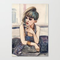 grimes Canvas Prints featuring Grimes by Helen Green