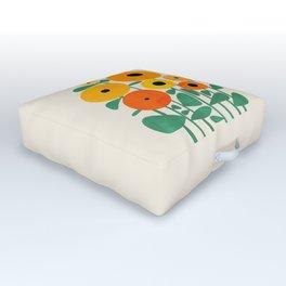 Sunflower and Bee Outdoor Floor Cushion