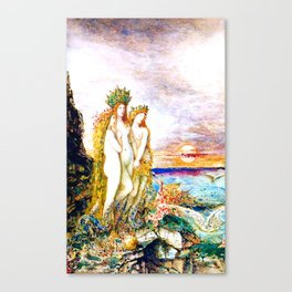 """Gustave Moreau """"The Sirens"""" Canvas Print"""