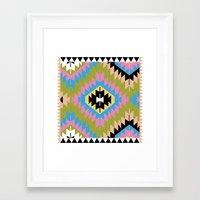 kilim Framed Art Prints featuring Modern Kilim by Alisse Courter