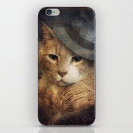 Vinnie Valentino - Ginger Cat Portrait iPhone Skin