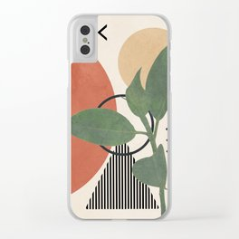 Nature Geometry III Clear iPhone Case