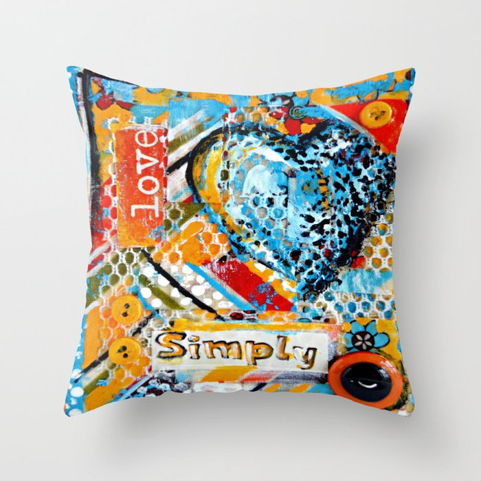 Simply Envogue Decorative Pillow : Love, Simply... Throw Pillow by claudiamcbain Society6