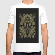 Abstract Tapestry Art. Sage. Mens Fitted Tee White MEDIUM