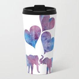 Elephants art Travel Mug