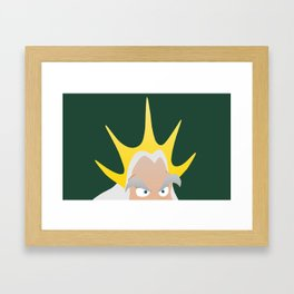 King Triton Framed Art Print