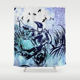 Calls The Ravens Shower Curtain