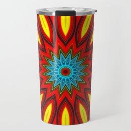Bright Multi Color Mandala Travel Mug