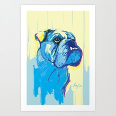 Digital Drawing #20 - Bulldog Pet Portrait Art Print