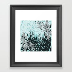 The winter window . Framed Art Print