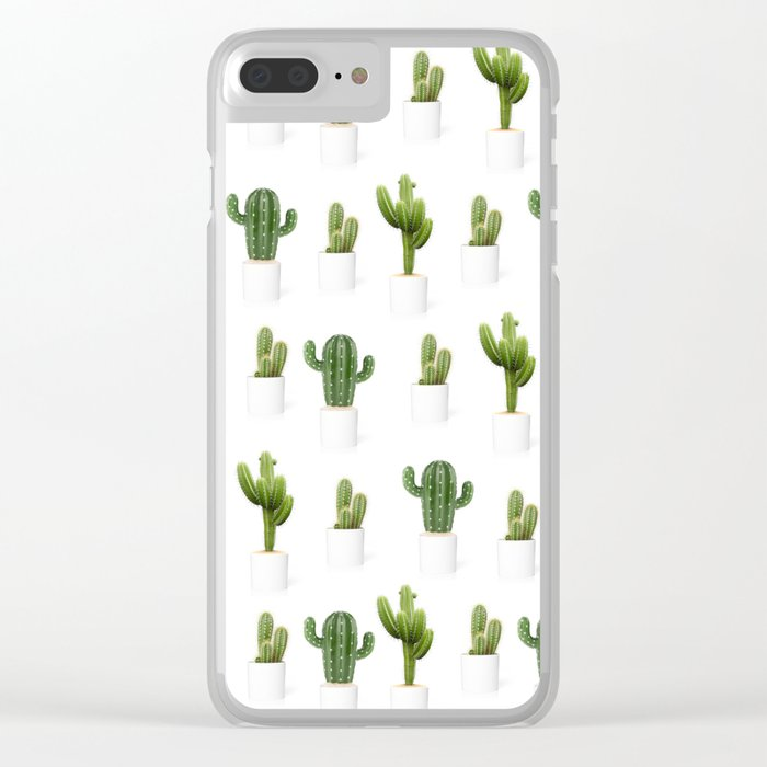 Cactus party Clear iPhone Case