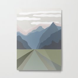 The Mountain Road III Metal Print