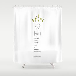 Storms In My Head Shower Curtain