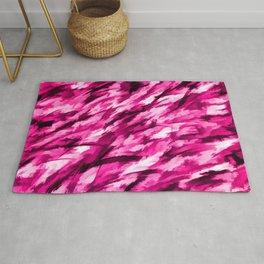 Hot Pink on Pink Designer Camouflage pattern Rug