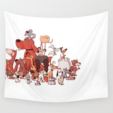 Good Dogs Wall Tapestry