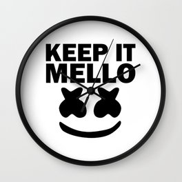 keep it mello Wall Clock