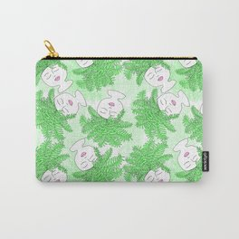 Fern-tastic Girls in Neon Green Carry-All Pouch