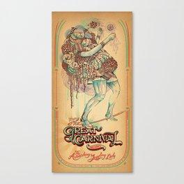 The Astonishing Juggling Lady Canvas Print